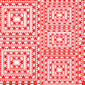 Pattern in red colors with hearts