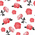 Pattern of red flowers roses Royalty Free Stock Photography