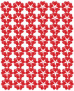 Pattern from red shapes like laces with hearts Royalty Free Stock Photography