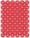 Pattern from red shapes like laces with hearts Stock Photography