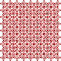 Pattern from red shapes like laces with hearts Stock Photos