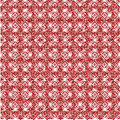 Pattern from red shapes like laces with hearts Stock Image
