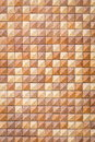 Pattern of red square sandstone wall texture Royalty Free Stock Photo