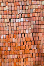 Pattern of red stapled bricks Royalty Free Stock Photo