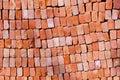 Pattern of red stapled bricks Stock Image