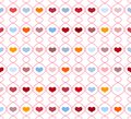 Pattern with repeating hearts seamless vector illustration Royalty Free Stock Photography
