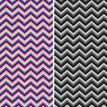 Pattern Retro Zig Zag Chevron Vector Stock Image