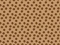Pattern with roasted coffee grains Royalty Free Stock Photography