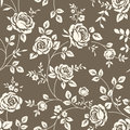 Pattern with roses vintage seamless Royalty Free Stock Photo