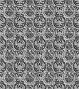 Pattern russian copecks in black and white for crafts fabrics decorating albums scrapbooks Royalty Free Stock Images
