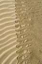 Pattern on sand water leaving tide mark Royalty Free Stock Photo