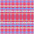 Pattern seamless art line and flower red pink orange paint on wo Royalty Free Stock Photo