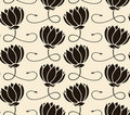Pattern seamless with lotus Royalty Free Stock Image
