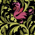 860 pattern, seamless pattern with swirls of leaves and flowers, ornament for wallpaper and fabric