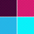 Pattern seamless polka dot background Stock Images