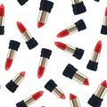 Pattern seamless Red lipstick 3d illustration of a beautiful vector illustration