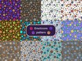 Pattern 09 Set of seamless patterns with the image of emoticons