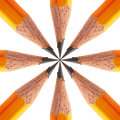 Pattern of a sharpened pencil Royalty Free Stock Photo