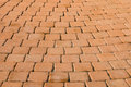 Pattern of small brown brick block from walkway Royalty Free Stock Photo