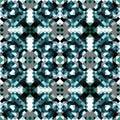 Pattern of small pixels blue geometric seamless pattern