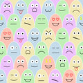 Pattern with smiles Royalty Free Stock Photo