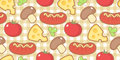 Pattern with snack seamless different snacks Royalty Free Stock Photography