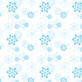 Pattern of snowflakes and Christmas tree balls Royalty Free Stock Photo