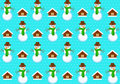 Pattern with snowmans vector seamless Royalty Free Stock Images