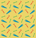 Pattern of spanner saw and hummer vector illustration Royalty Free Stock Images