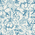 Pattern with spring flowers Stock Photography