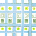 Pattern with squares bricks