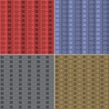 Pattern squares and diamonds various seamless backgrounds patterns Stock Photo