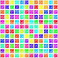 Pattern squares with knobs colorful for fabrics decorating albums and scrapbooks Stock Photo