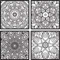 Pattern from squares with mandala