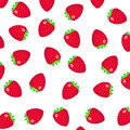 Pattern with a strawberry on white background Royalty Free Stock Photos