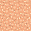 Pattern with stylized sakura flowers simple floral ornamented seamless japanese cherry on beige texture background for web print Royalty Free Stock Images