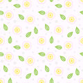 Pattern with stylized sakura flowers