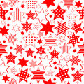 Pattern with stylized stars Royalty Free Stock Images