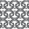 Pattern swans&mushroom Stock Images