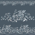 Pattern with swirling floral ornament design decorative Royalty Free Stock Photos