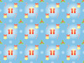 Pattern with symbols of christmas blue abstract seamless Stock Image
