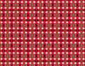 Pattern textile with repeated geometries in red white and dark shadows Stock Photo