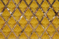 Pattern thai art relief a with glass Stock Photography