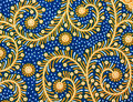 Pattern of thai hand made blue fabric Royalty Free Stock Image