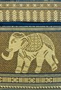 PATTERN THAI SILK ELEPHANT Stock Images
