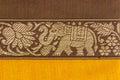 Pattern thai style background elephant Royalty Free Stock Image