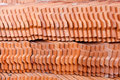 Pattern of the tile roof Royalty Free Stock Image