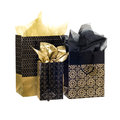 Pattern tote bags gold isolated on white background Stock Photography