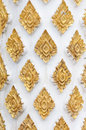 Pattern in traditional Thai style art of the templ Royalty Free Stock Image