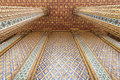 Pattern in traditional thai style at temple in thailand Royalty Free Stock Images